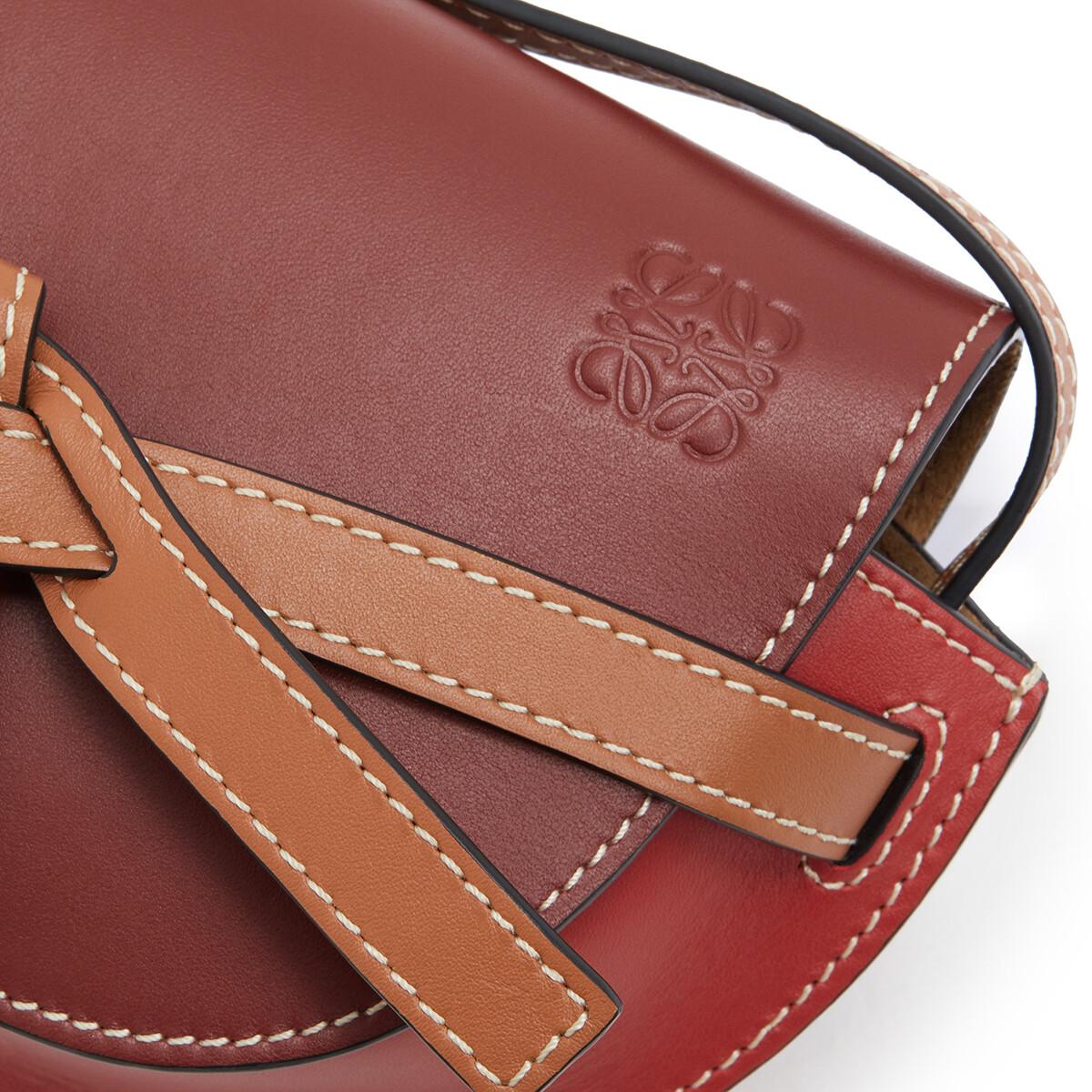 LOEWE Gate Mini Bag Garnet/Pomodoro front