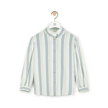 LOEWE Stripe Blouse Marino/Blanco front