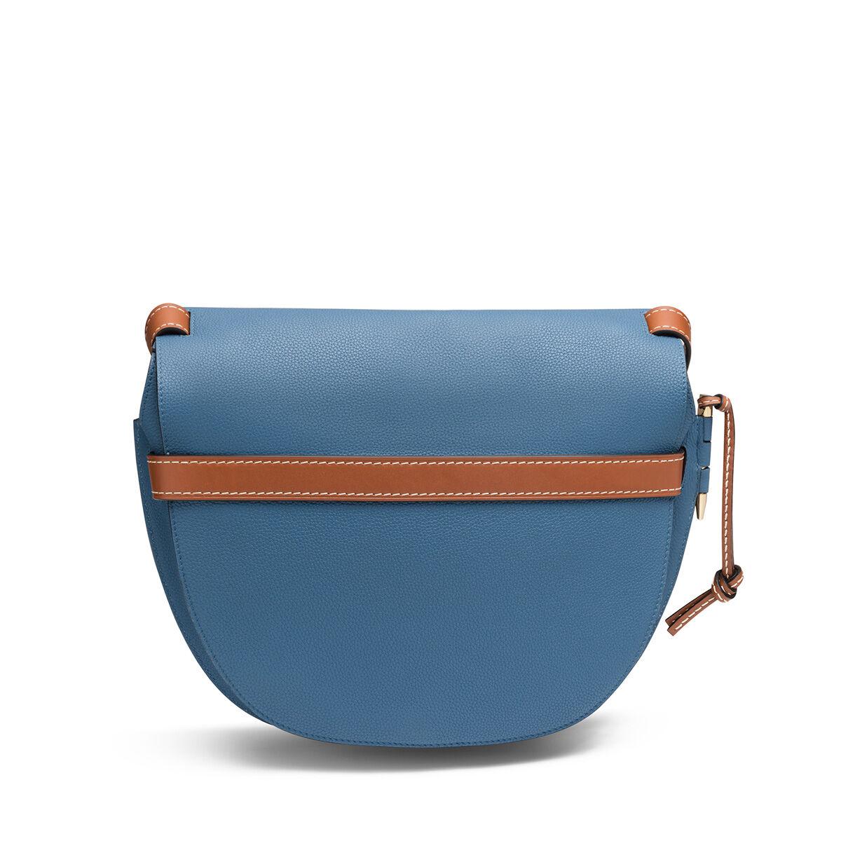 LOEWE Gate Bag Varsity Blue/Pecan Color all