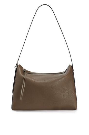 LOEWE Large Berlingo bag in grained calfskin Khaki Brown pdp_rd