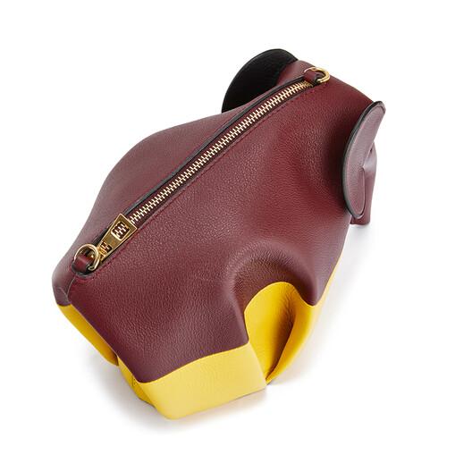 LOEWE Elephant Colour Block Mini Bag Wine/Yellow front