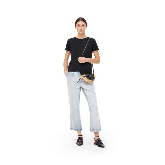 LOEWE Asymmetric Anagram T-Shirt 黑色 front