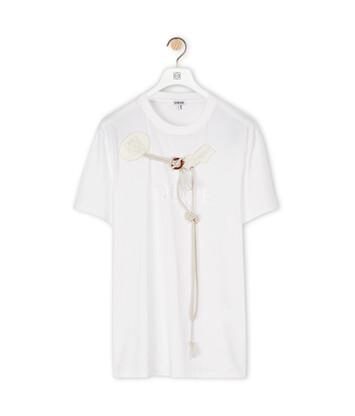 LOEWE Loewe Trim T-Shirt Blanco front