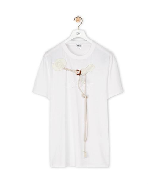 LOEWE Loewe Trim T-Shirt 白色 front