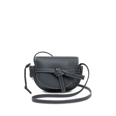 LOEWE Mini Gate Bag Midnight Blue front