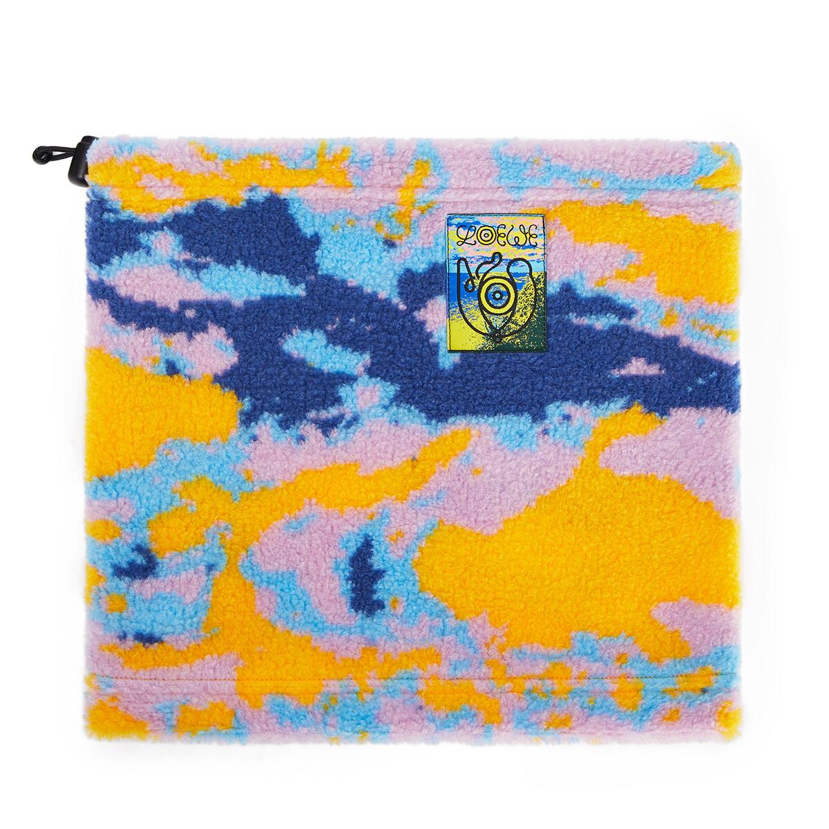 LOEWE Eln Fleece Snood Jacquard Multicolor front
