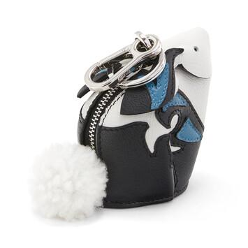 LOEWE Charm Bunny Negro/Azul Claro front