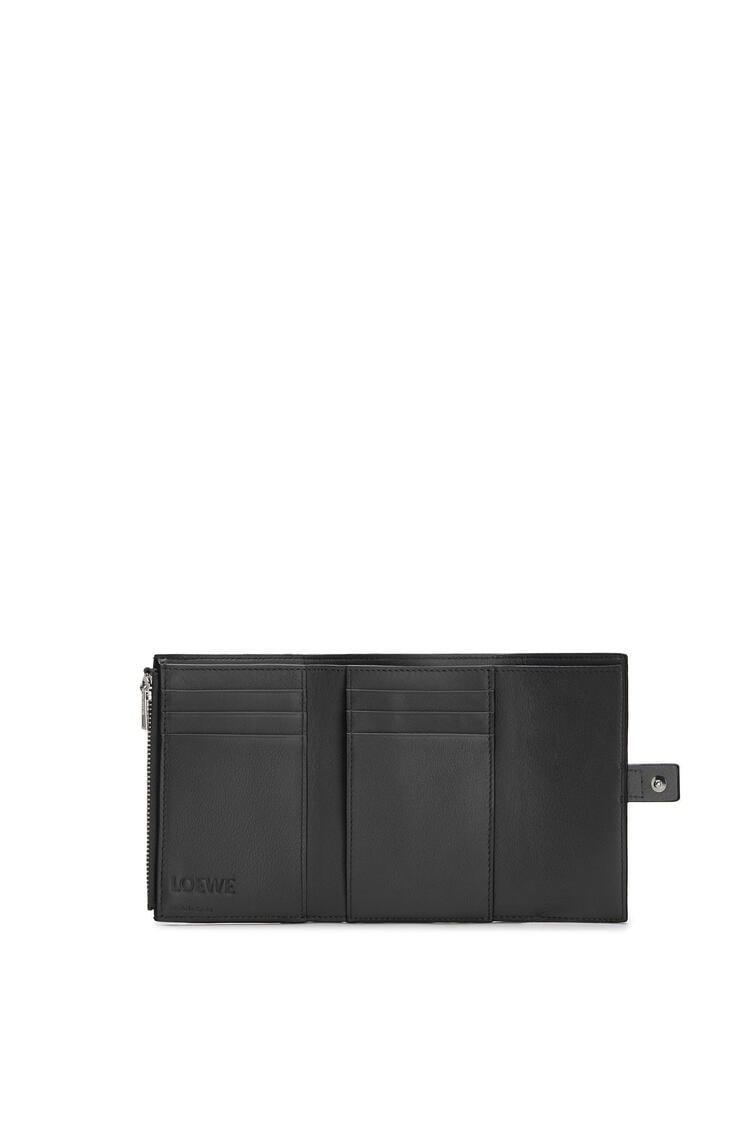 LOEWE Small vertical wallet in soft grained calfskin Black pdp_rd