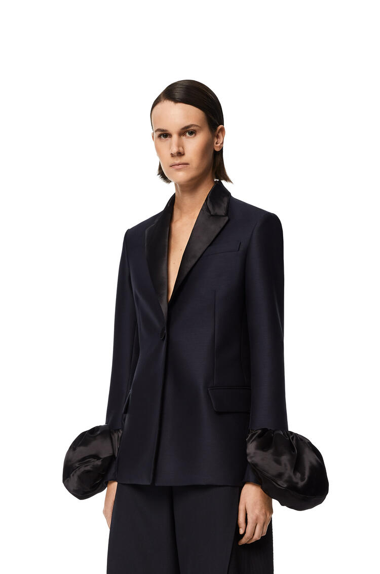 LOEWE Dinner jacket in wool Navy Blue pdp_rd