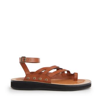 LOEWE Chunky Sandal In Calfskin Tan front