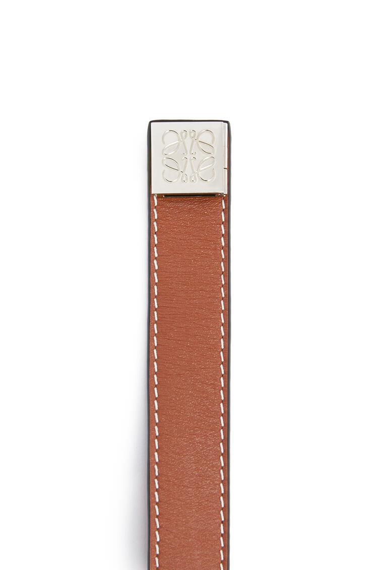 LOEWE Pulsera doble en piel de ternera Bronceado pdp_rd