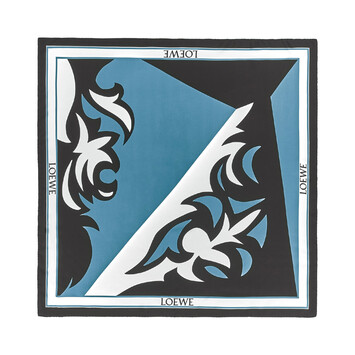 LOEWE 90X90 Scarf Puzzle Western Blue front