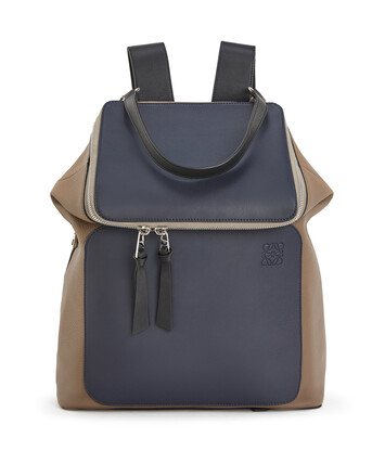 LOEWE Goya Backpack Deep Blue/Dark Taupe front