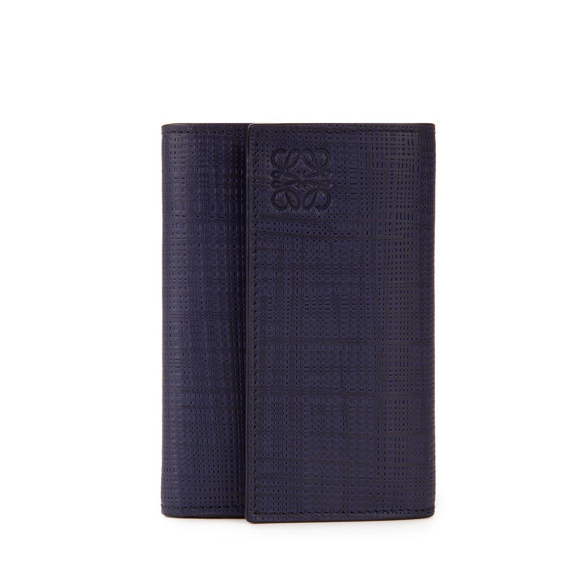 LOEWE Small Vertical Wallet Navy Blue front