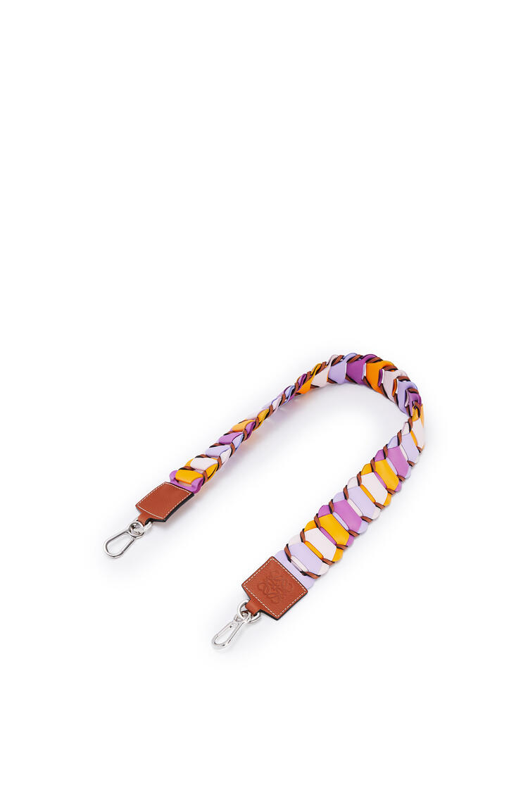 LOEWE Circles loop strap in classic calfskin Bright Purple/Mauve pdp_rd