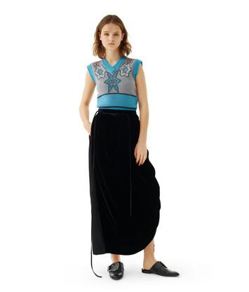 LOEWE Velvet Pocket Skirt Black front
