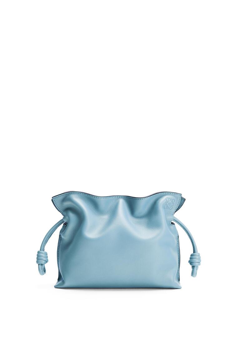 LOEWE Mini Flamenco clutch in nappa calfskin Light Blue pdp_rd