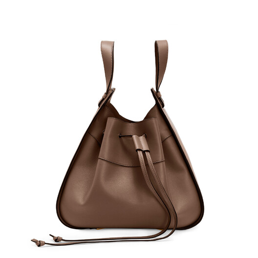 LOEWE Hammock Drawstring Medium Bag Brunette front