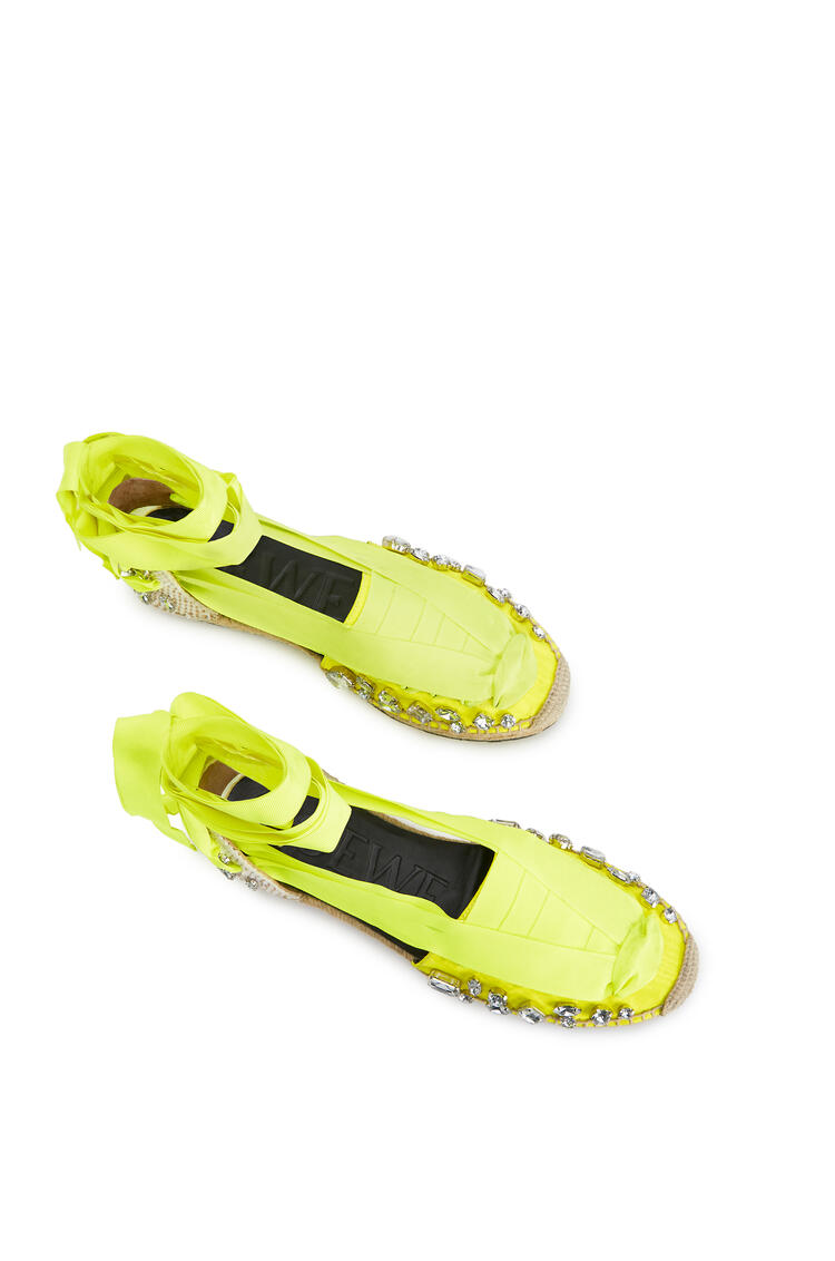 LOEWE Espadrille in polyester Yellow Fluo pdp_rd