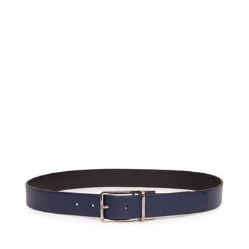 LOEWE Formal Belt 3.2Cm Adj/Rev navy/black/ruthenium front