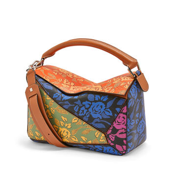 LOEWE Bolso Paula's Puzzle Patchwork Multicolor front