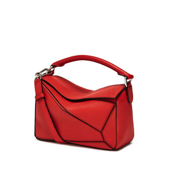 LOEWE Puzzle Small Bag Scarlet Red front