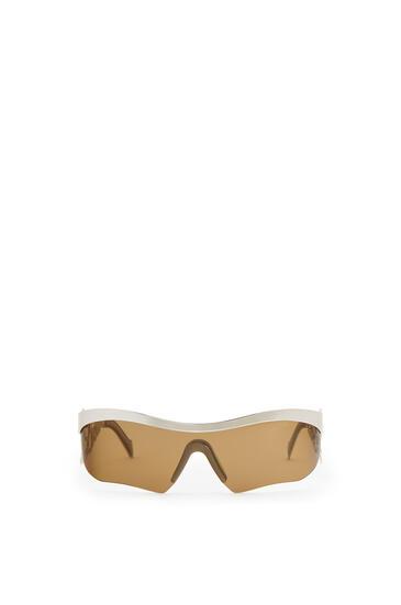 LOEWE Logo mask sunglasses 金屬灰/綠色 pdp_rd