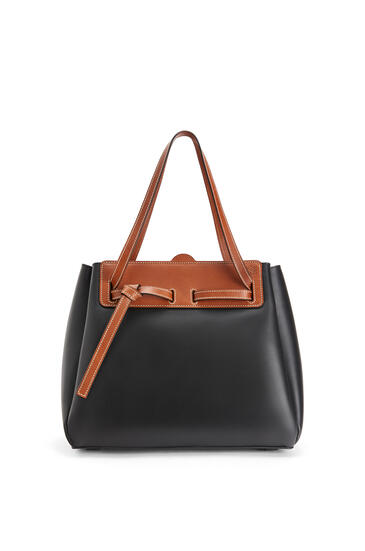 LOEWE Lazo shopper bag in natural calfskin Black pdp_rd