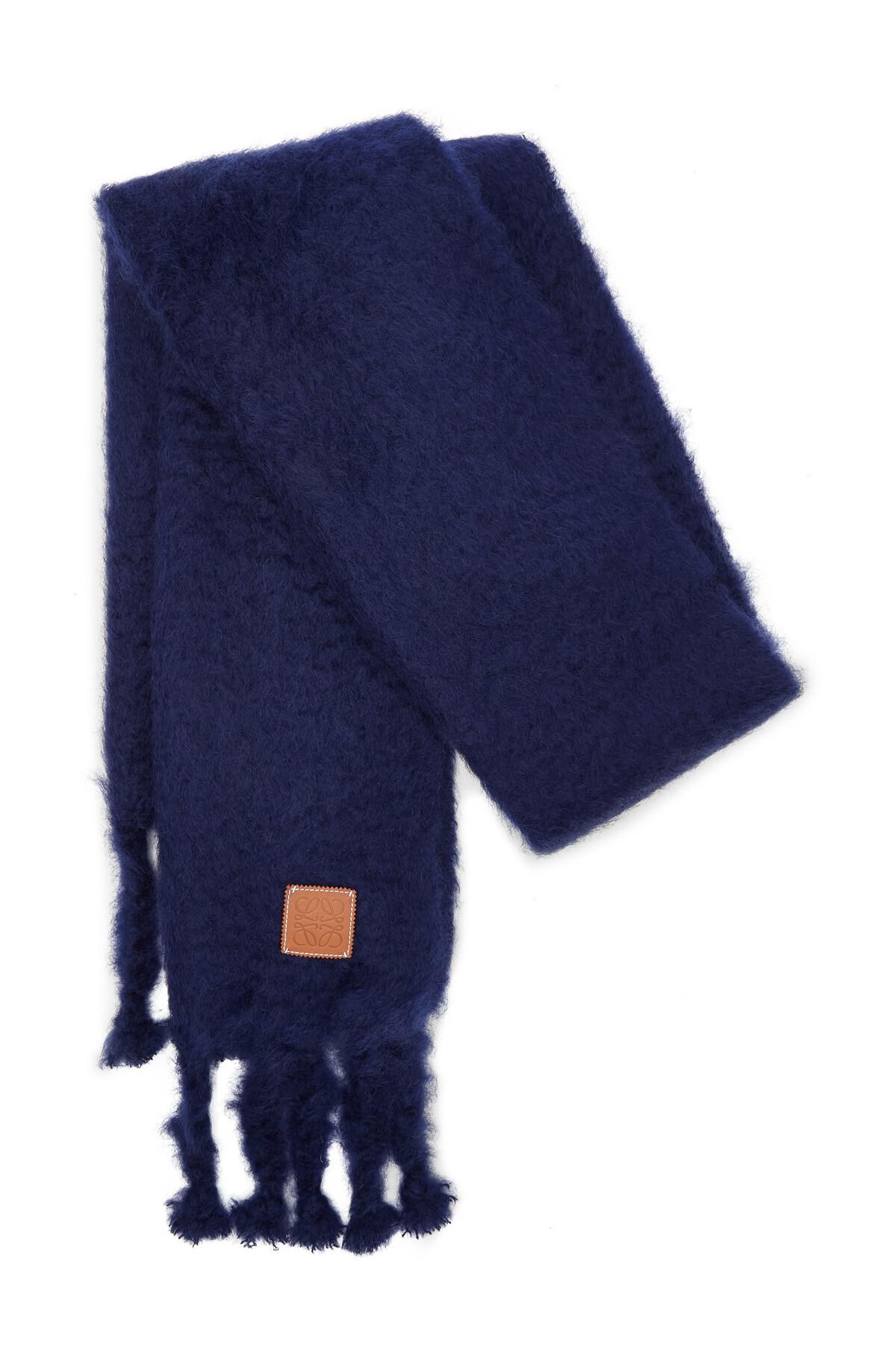 LOEWE 45X230 Scarf Plain Navy Blue front