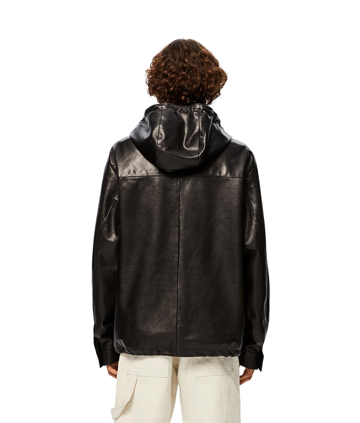 LOEWE Zip Hood Jacket 黑色 front