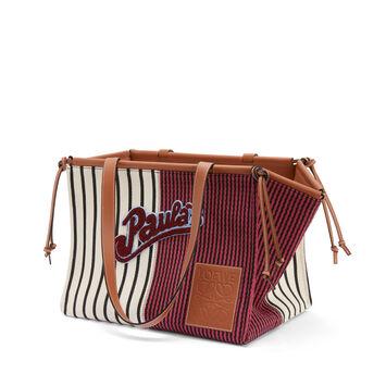 LOEWE Paula´S Cushion Tote Stripes Red/White front