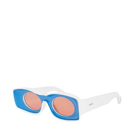 LOEWE パウラサングラス ブルー/ホワイト front