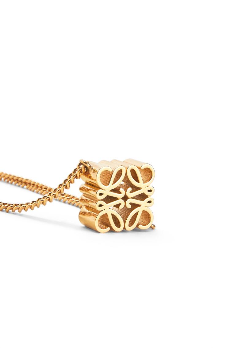 LOEWE Anagram necklace in metal Gold pdp_rd