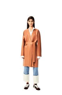 LOEWE Short coat in nappa Tan pdp_rd