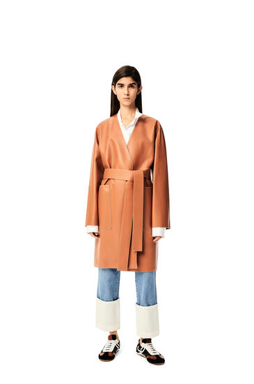 LOEWE Short coat in nappa Tan pdp_rd