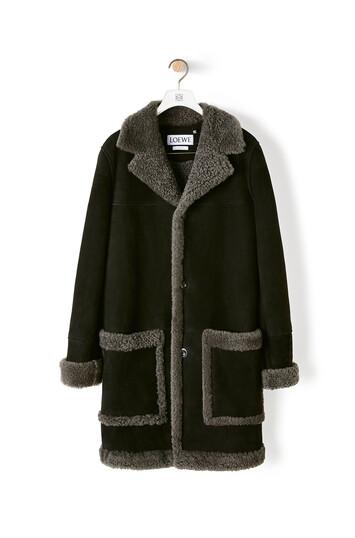 LOEWE Shearling Coat ブラック front