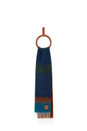 LOEWE Stripe scarf in mohair and wool Dark Brown/Dark Green pdp_rd