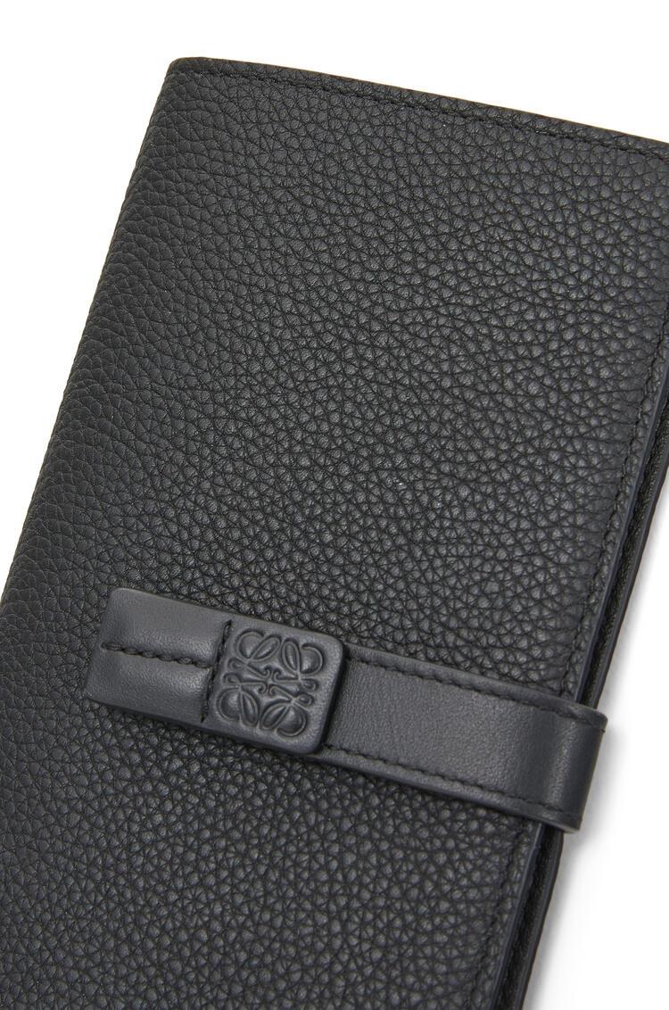 LOEWE Large vertical wallet in soft grained calfskin Black pdp_rd