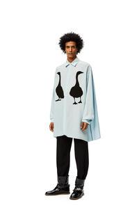 LOEWE Goose oversize shirt in viscose Baby Blue pdp_rd