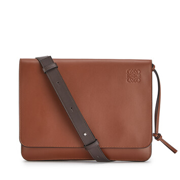 LOEWE Bolso Gusset Messenger Plano Coñac front