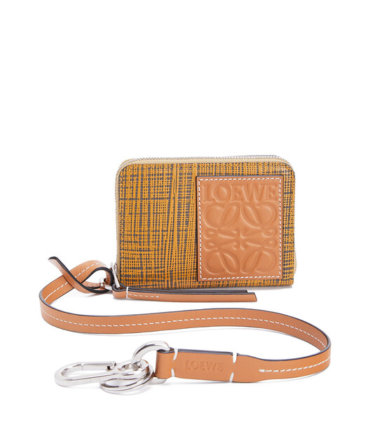 LOEWE Strap 6 Cards Wallet Ochre/Taupe front