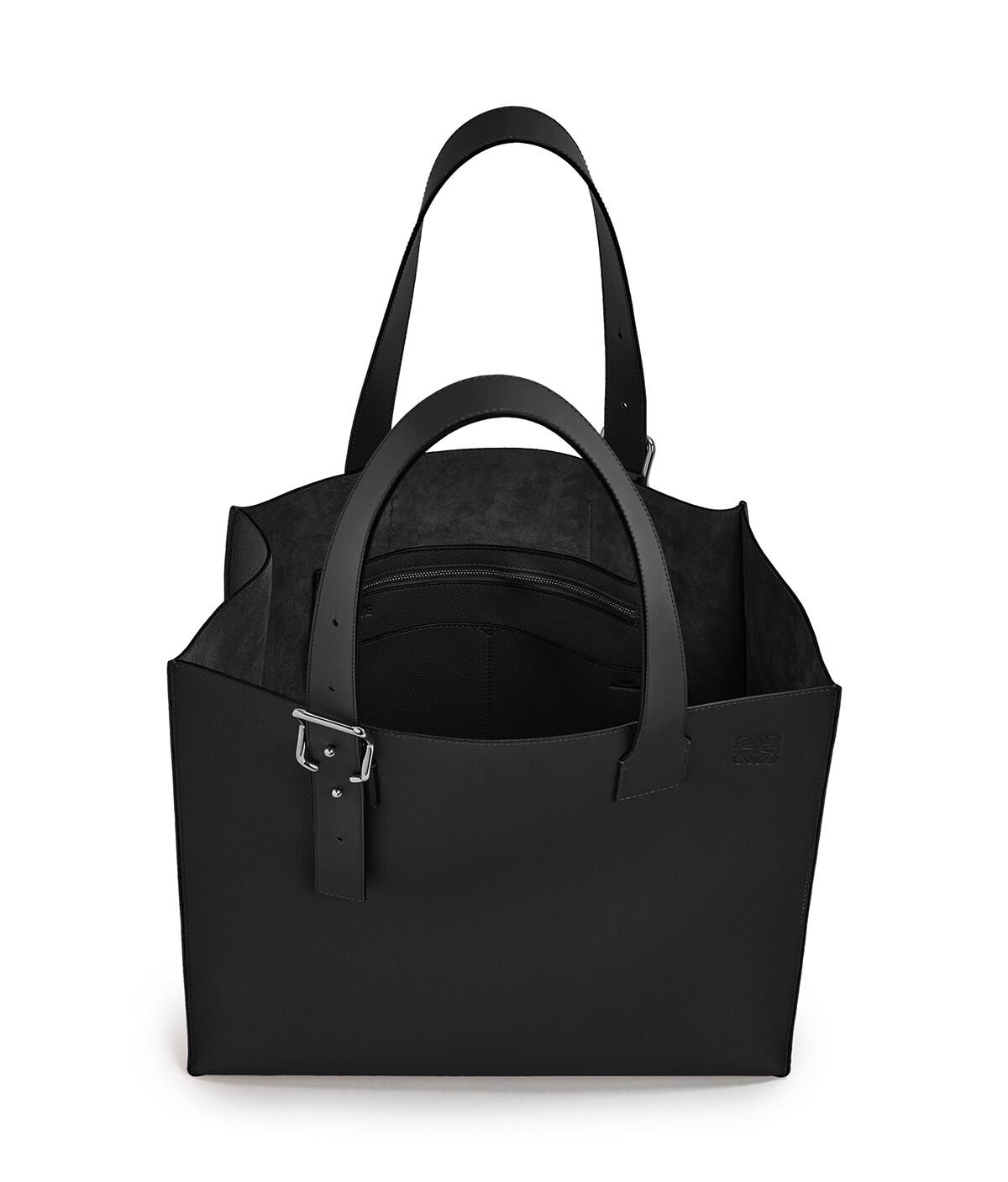 LOEWE Buckle Tote Bag Black front