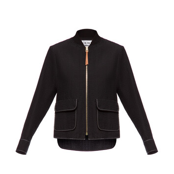 LOEWE Patch Pocket Zip Jacket Negro front