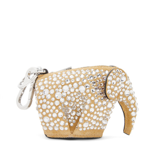 LOEWE Elephant Charm Gold/Crystal front