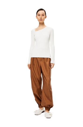 LOEWE Balloon Trousers Tabaco front