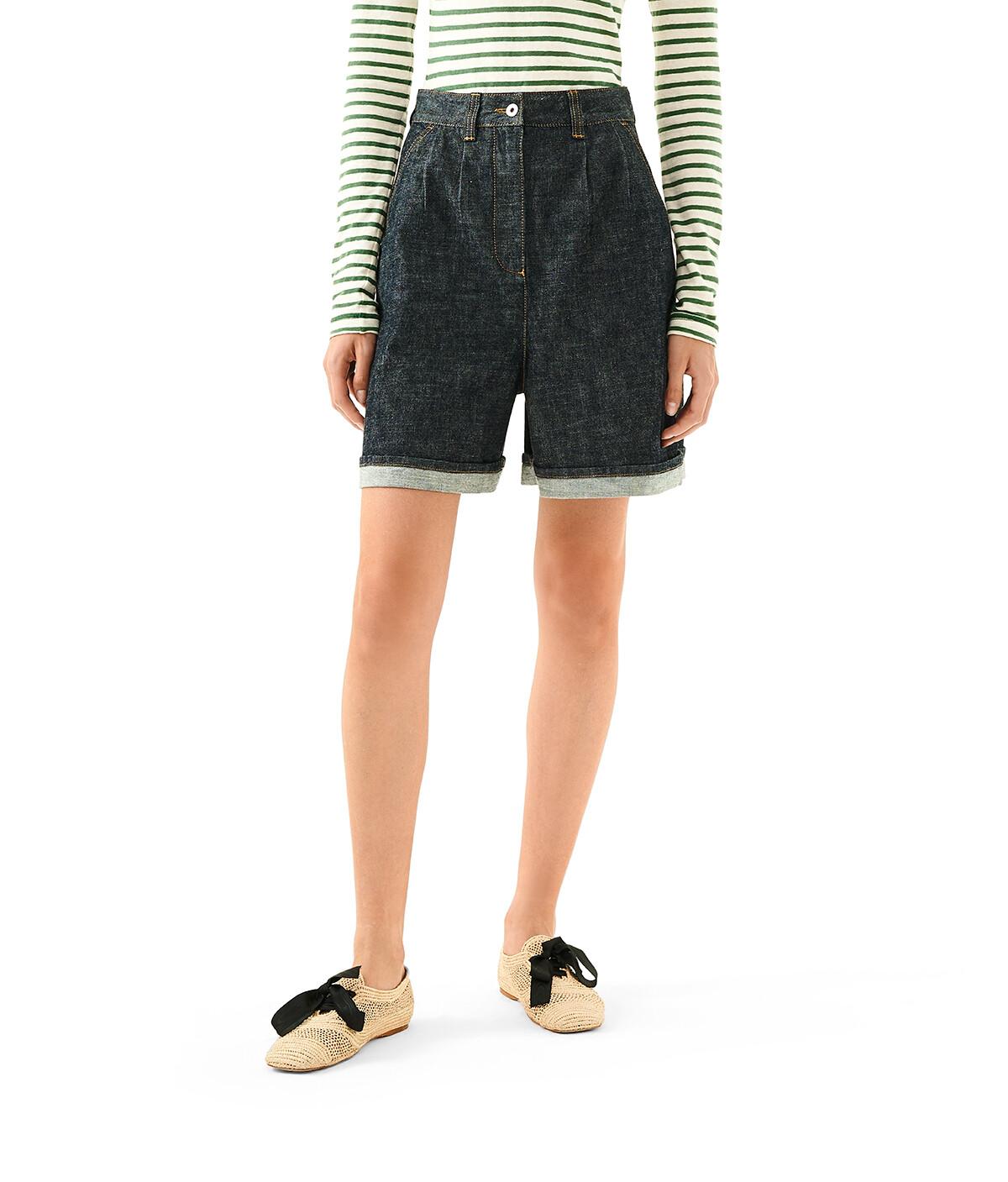 LOEWE Denim Shorts Indigo front