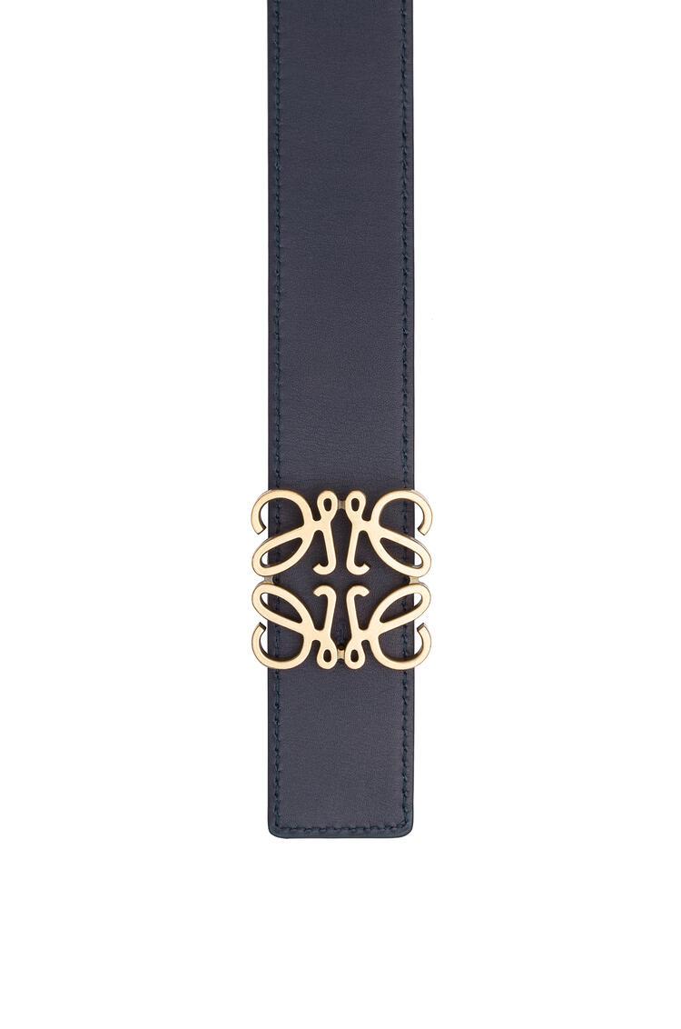 LOEWE Anagram Belt In Soft Grained Calfskin Black/Navy/Old Gold pdp_rd