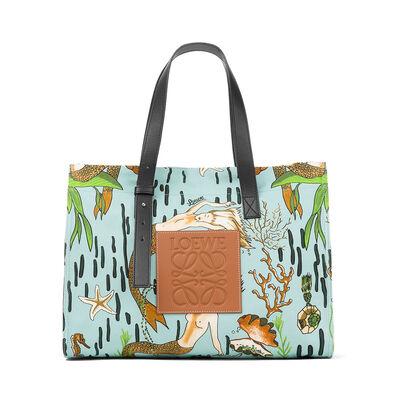 LOEWE Tote Paula Mermaid Medium Bag Aqua front