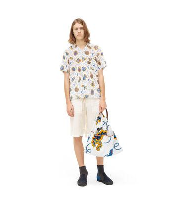 LOEWE Paula Print Short Slv Shirt Blanco/Multicolor front