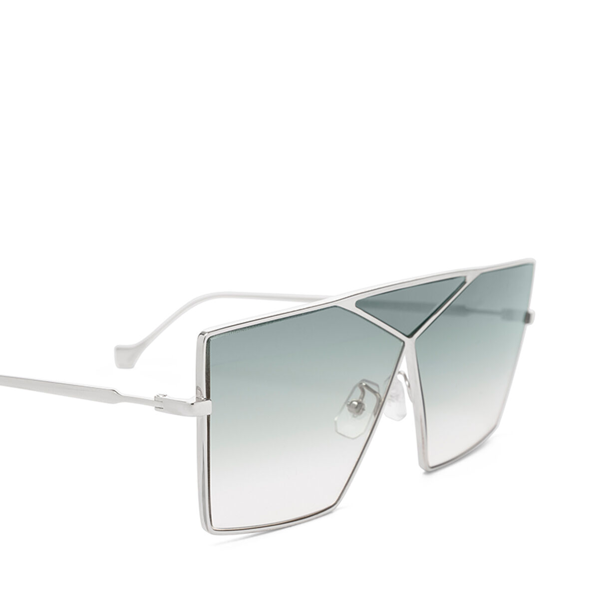 LOEWE Square Puzzle Sunglasses Pale Gold/Gradient Turquoise all